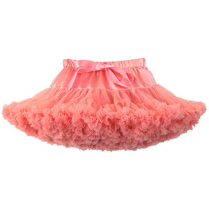 RED WATERMELON DOUBLE LAYERS TUTU SKIRT