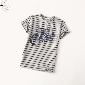MOTORCYCLE STRIPES BOY TEE SHIRT