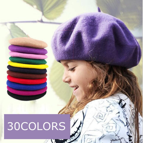 FRENCH WOOL BERET HAT 3-7Y