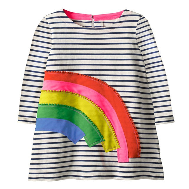 RAINBOW LONG SLEEVES DRESS 3/6 Y
