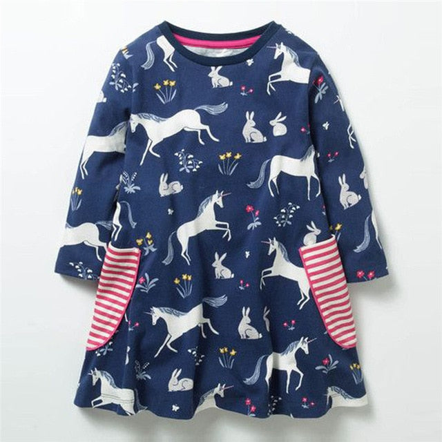 UNICORN NAVY LONG SLEEVES DRESS