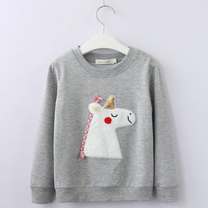 GREY UNICORN SWEATER 3-7