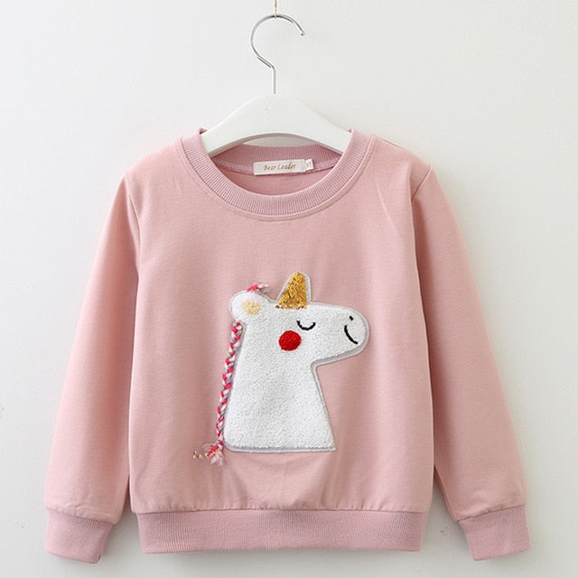 PINK UNICORN SWEATER  3-7Y