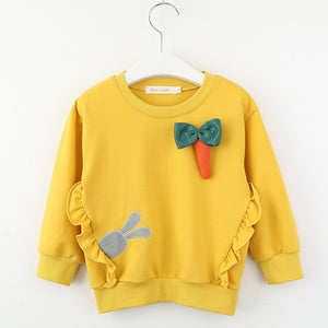 CARROT BUNNY YELLOW SWEATER 3-7