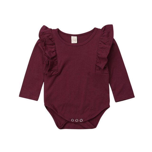 RUFFLES LONG SLEEVES ONESIE