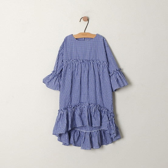 BLUE VICHY DRESS