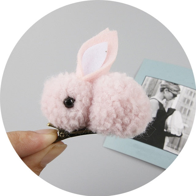 CUTE RABBIT  HAIR CLIP & ROPE