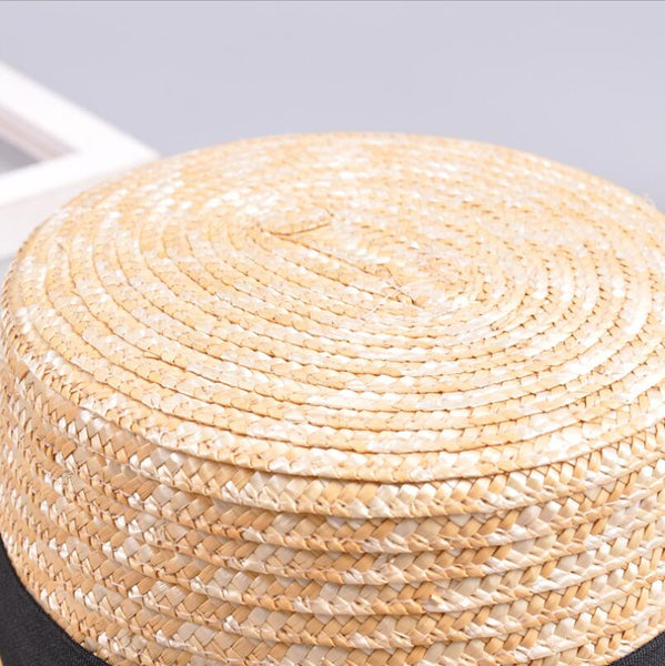 BOATER STRAW HAT