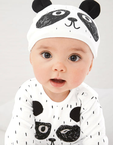 PANDA BLACK AND WHITE ROMPER