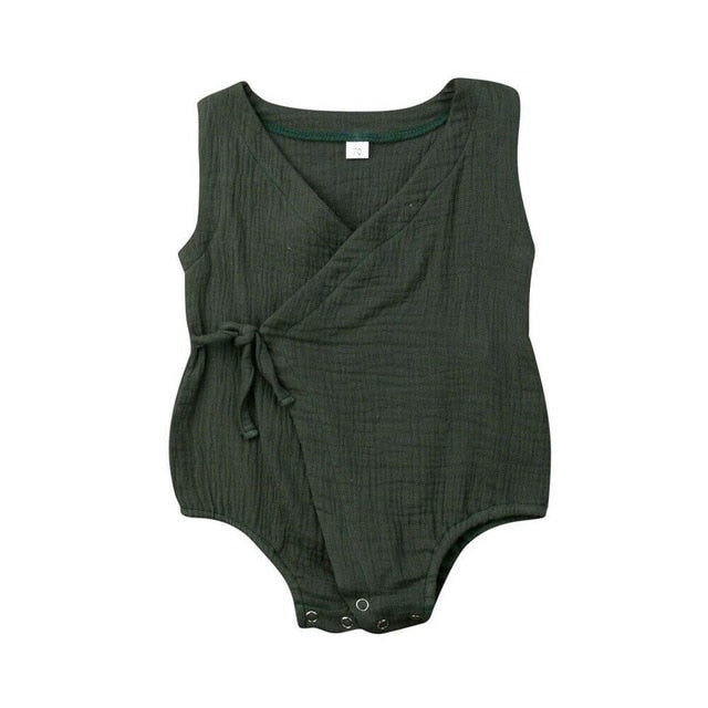 WRAPPED  SLEEVELESS PLAYSUIT