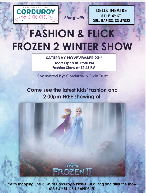 FASHION & FLICK WINTER EDITION NOVEMBER 23rd,2019