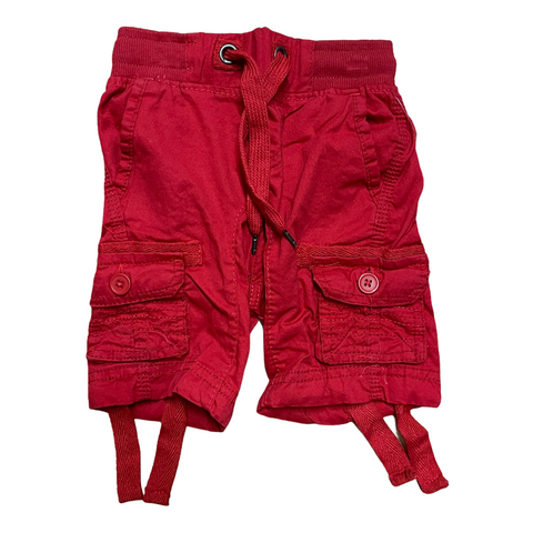 Boys Cargo Shorts Red