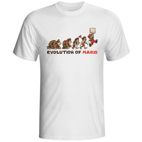 Evolution Of Mario Tee