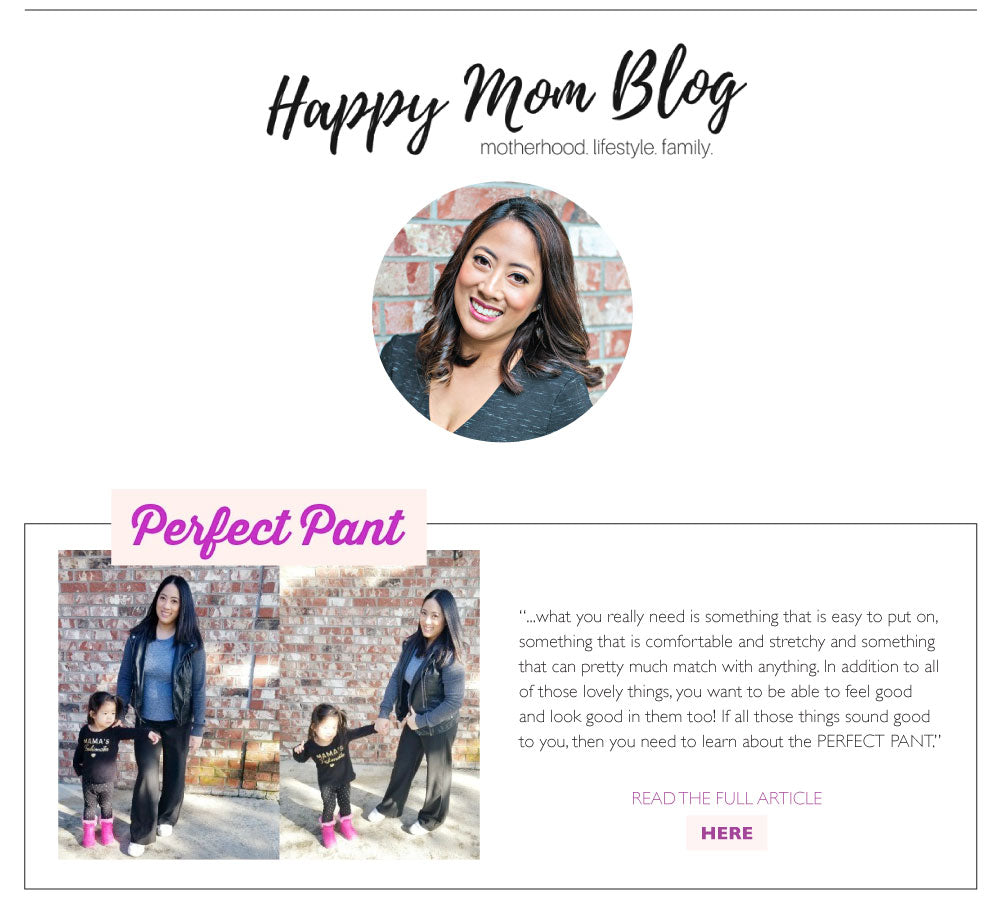 Happy Mom Blog Review - The Perfect Pant | perfectpant.com