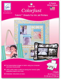 "June Tailor Colorfast Printer Sheets- White 8-1/2"" x 11"