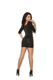 Strappy mini dress with exposed back zipper.