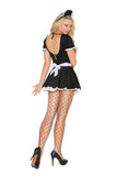 Mischievous Maid - 2 pc. costume includes dress with attached apron and head piece.