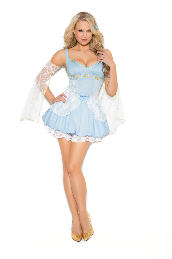 Sassy Cinder Babe - 2 pc. costume includes mini dress and arm bands.