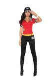 High Octane Honey - 3 pc. costume includes short sleeve  top with zipper, pants and hat.