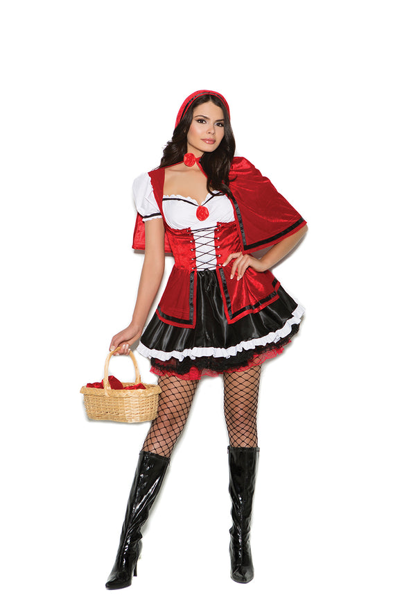 Storybook Red - 2 pc. costume includes mini dress and velvet cape.
