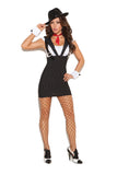 Machine Gun Greta - 3 pc. costume includes dress with  attached suspenders, tie and wrist cuffs.