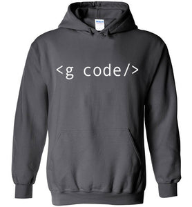 Charcoal G-Code Pull Over Hoodie