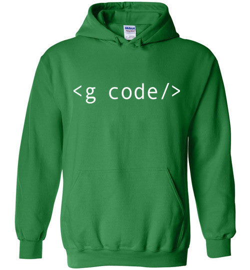 Irish Green G-Code Pull Over Hoodie