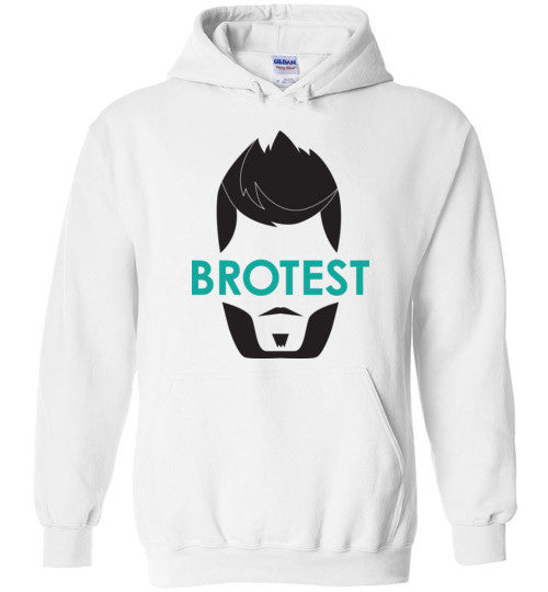 White Brotest Pull Over Hoodie