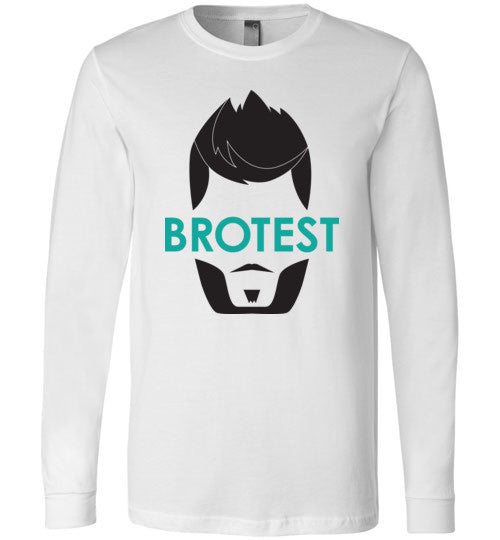 White Brotest Long Sleeve Shirt