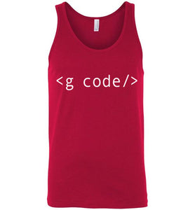 Red G-Code Tank Top