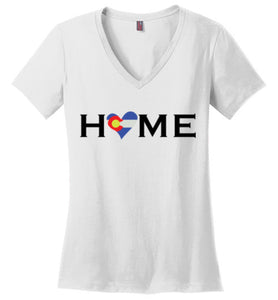 HOME Heart Colorado - Ladies V-Neck