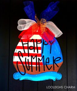 Nautical Door Hanger - Boat Door Hanger - Baby Boy Wreath - Nautical Decor - Patriotic Wreath | 4th of July Decor - Summer Door Hanger