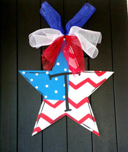 Fleur De Lis Wreath | Summer Door Hanger - Summer Wreath - Patriotic Wreath- 4th of July Decor |  Patriotic Centerpiece | Independence Day