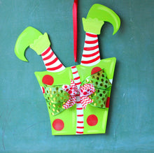 Elf Door Hanger, Christmas Decor, Christmas Wreath - Christmas Door Hanger