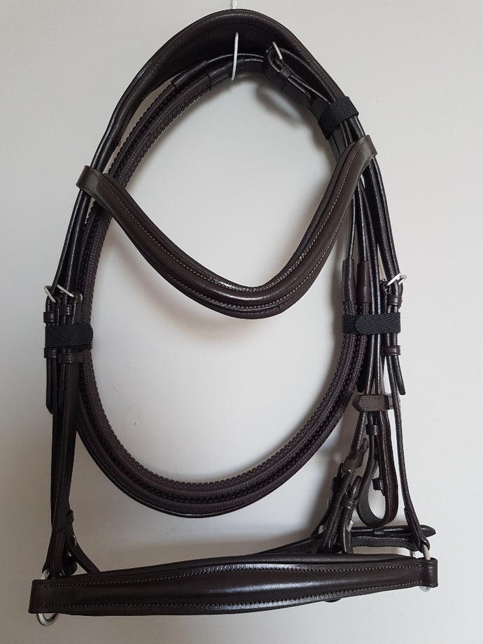 Drop Noseband Bridle - All Brown Leather Drop