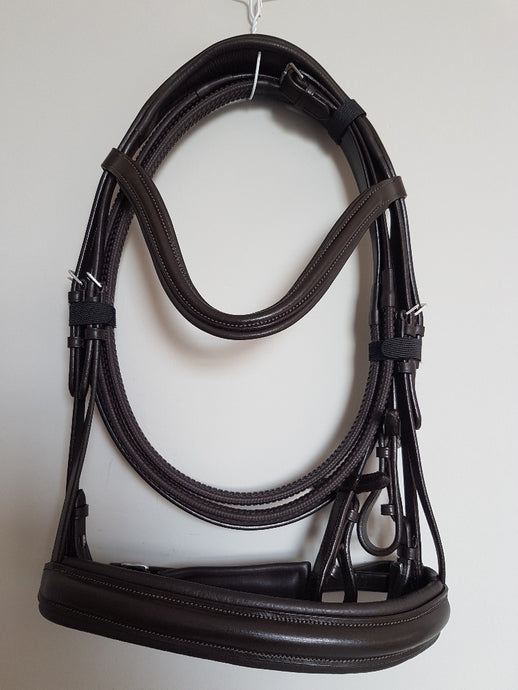 Cavesson Bridle - All Brown Leather  Full, Cob, Pony