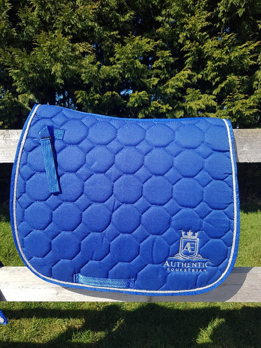 GP Saddle pad - Blue with silver edging