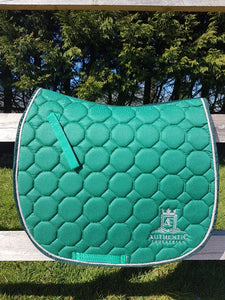 GP Saddle Pad - Green with silver edging