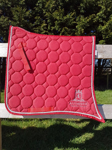 Spanish Saddle Pad - Red with silver edging