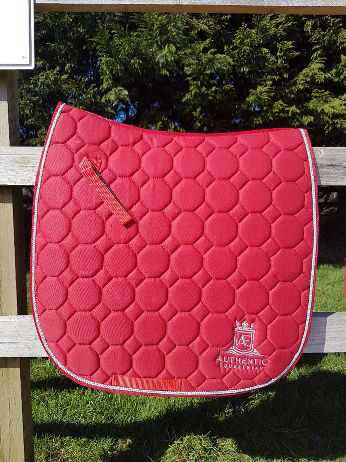 GP Saddle Pad - Red with silver edging