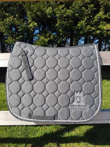 GP Saddle Pad - Grey with silver edging