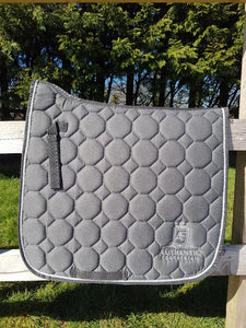 Dressage Saddle Pad - Grey with silver edging