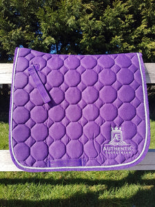 Dressage Saddle Pad - Purple with silver edging