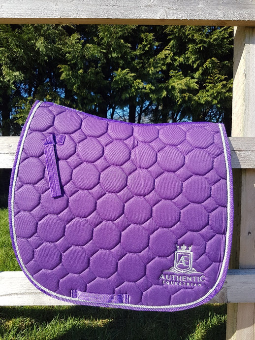 GP Saddle Pad - Purple with silver edging and logo