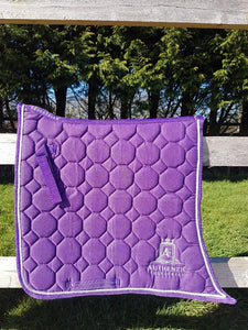 Spanish Saddle Pad - Purple with silver edging