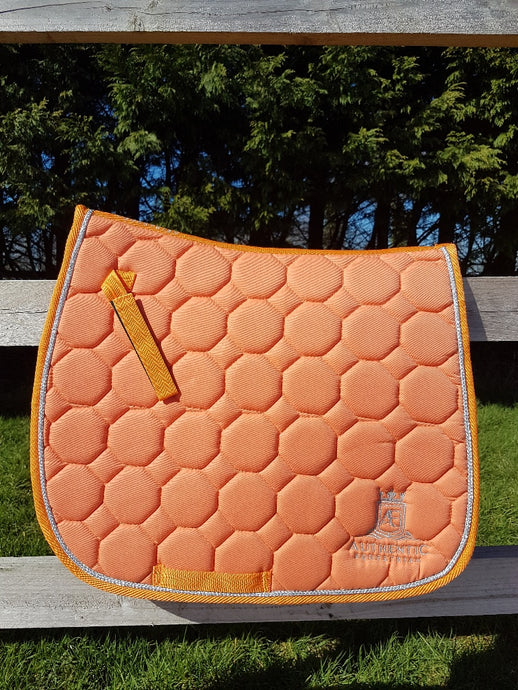 GP Saddle Pad - Orange with silver edging