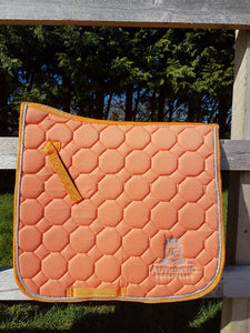 Dressage Saddle Pad - Orange with silver edging