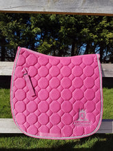 GP Saddle Pad - Pink with silver edging