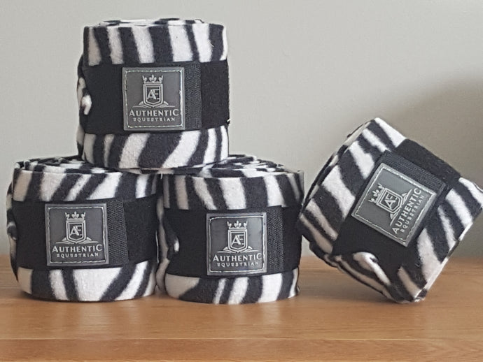 Fleece bandages - Zebra