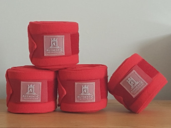Fleece bandages - Red
